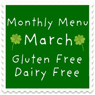 Gluten Free Dairy Free Menu- Month of March (2)