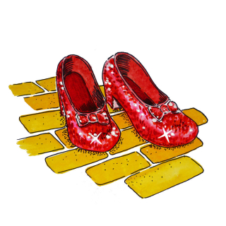 Ruby-slippers-yellow-brick-road