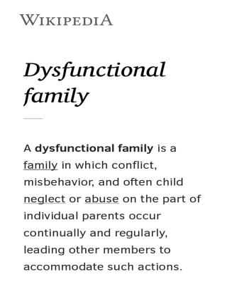 Dysfunctionalfamily