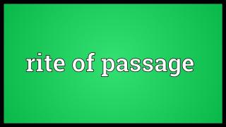 Riteofpassage